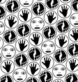 feet hands and faces vector image vector image