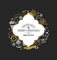 festive merry christmas poster vector image vector image