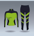 fitness women jacket and pants vector image