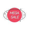 flat banner of sale promotion vector image vector image