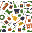 flat gardening icons pattern background vector image