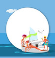 friends having fun on sunny summer day vector image vector image