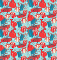 Funny Merry Christmas seamless pattern with gift vector image vector image