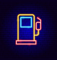 gas station neon sign vector image