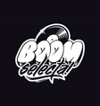 graffiti musical logo vector image