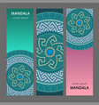 greek style banner set circular ornament vector image vector image