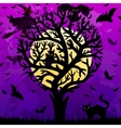 halloween background with stylized tree vector image vector image