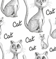 Hand Drawn Sketch of Cats vector image vector image