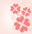 heart flower background vector image