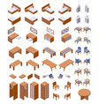 isometric concept furniture large collection good vector image vector image