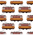 Lovely retro detailed tram car side view vector image vector image