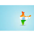 map of india with indian flag vector image vector image