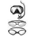 mask for diving goggles for swimming vector image vector image