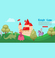 medieval or fairy tale cartoon knight game banner vector image vector image