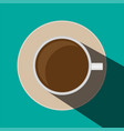minimal design coffee cupcup of coffee with vector image vector image