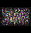 multicolor mosaic vector image vector image