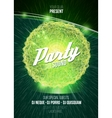 Party neon sign 3D illuminated distorted sphere vector image