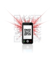 Phone scanned QR code vector image vector image