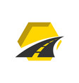 road construction logo road maintenance creative vector image vector image