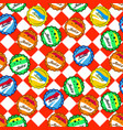 seamless retro soda bottle caps pattern on vector image