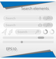 search elements for the web interface vector image vector image