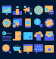search engine optimization icon set in colored vector image vector image