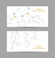set horizontal banners geometric pattern vector image vector image