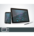 Set of blank generic tablet pc and smartphones vector image