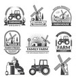set of farm logos vector image vector image