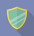 Shield flat icon vector image vector image