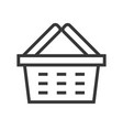 shopping basket online shopping line style icon vector image vector image