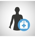 silhouette person medical first aid icon design vector image vector image
