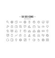 stock set of seo optimization icons vector image