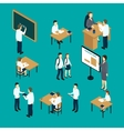 Teachers And Students Isometric Set vector image