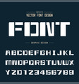 tech bold font and graphic alphabet technology vector image vector image