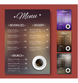 Templates coffee menu of different colors with vector image vector image