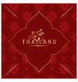 thailand bodhi leaves thai design red background v vector image vector image