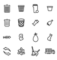 thin line icons - garbage vector image