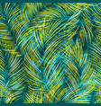 tropical leaves seamless pattern with texture vector image vector image