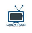 tv media logo design vector image vector image
