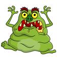 Ugly green monster cartoon vector image vector image