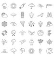 umbrella icons set outline style vector image vector image