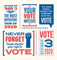 vote in 2020 presidential election vector image vector image
