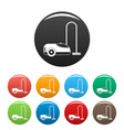wash vacuum cleaner icons set color vector image