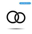 wedding rings icon on white background eps 10 vector image