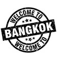 welcome to bangkok black stamp vector image vector image