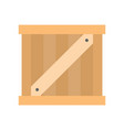 wooden crate box flat icon shipping delivery and vector image