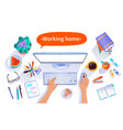 working home concept vector image