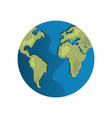world earth map vector image vector image