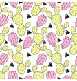 Cactus pastel seamless pattern. vector image